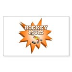 Hockey Mom! Rectangle Sticker 10 pk)