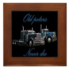 Old Peter Never Die Framed Tile