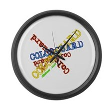 Spinning Colorguard Large Wall Clock