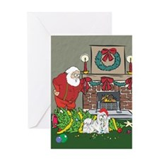 Santa's Helper Maltese Greeting Card