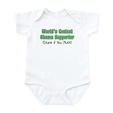 World's Coolest Obama Supporter Infant Bodysuit