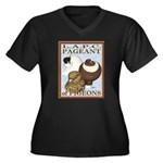 Pigeon Pageant2 Women's Plus Size V-Neck Dark T-Sh