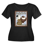 Pigeon Pageant2 Women's Plus Size Scoop Neck Dark
