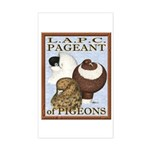Pigeon Pageant2 Rectangle Sticker