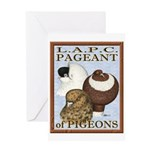 Pigeon Pageant2 Greeting Card