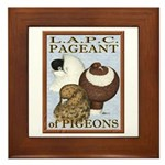 Pigeon Pageant2 Framed Tile