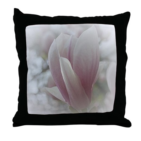 Ethereal Magnolia Blossom Throw Pillow