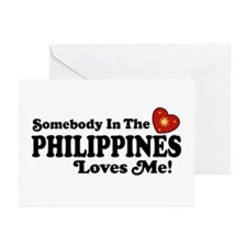 Somebody In the Philippines Loves Me Greeting Card