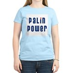 Palin Power blue font Women's Light T-Shirt