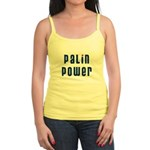 Palin Power blue font Jr. Spaghetti Tank