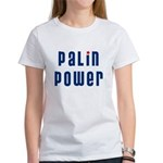 Palin Power blue font Women's T-Shirt