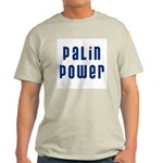 Palin Power blue font Light T-Shirt