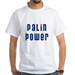 Palin Power blue font White T-Shirt