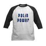 Palin Power blue font Kids Baseball Jersey