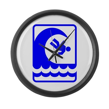 DANGEROUS SURF Large Wall Clock