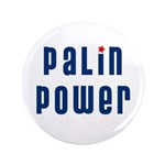 "Palin Power blue font 3.5"" Button (100 pack)"