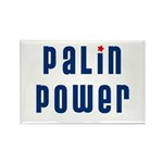Palin Power blue font Rectangle Magnet (10 pack)