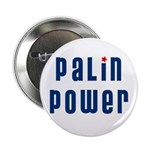 "Palin Power blue font 2.25"" Button (100 pack)"