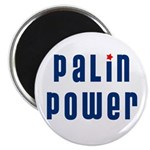 Palin Power blue font Magnet