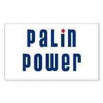Palin Power blue font Rectangle Sticker 10 pk)
