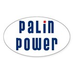 Palin Power blue font Oval Sticker (10 pk)