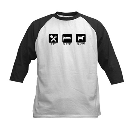 Eat, Sleep, Show (Steer) Kids Baseball Jersey