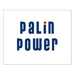 Palin Power blue font Small Poster