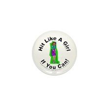 Hit/Girl (Golf 1) Mini Button (10 pack)