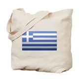 Greek Flag Tote Bag