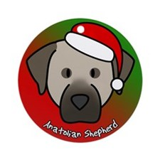Cartoon Anatolian Shepherd Christmas Ornament