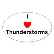 I love Thunderstorms Oval Decal