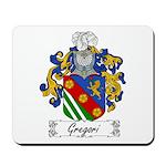 Gregori Family Crest Mousepad