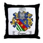 Gregori Family Crest Throw Pillow
