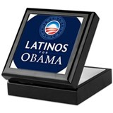 LATINOS FOR OBAMA Keepsake Box