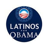 "LATINOS FOR OBAMA 3.5"" Button"