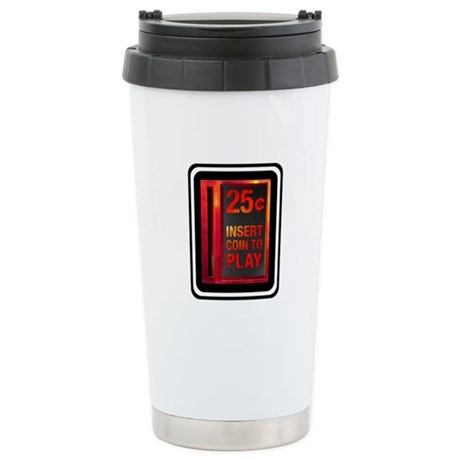 INSERT COIN TO PLAY Ceramic Travel Mug