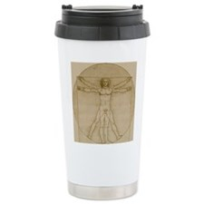 Vitruvian Man Ceramic Travel Mug
