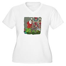 Santa's Helper Doberman T-Shirt