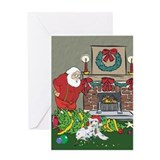 Santa's Helper Dalmation Greeting Card