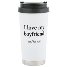 Boyfriend/his wife Ceramic Travel Mug