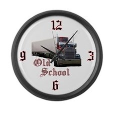 Old School Large Wall Clock