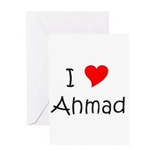 Cute I love ahmad Greeting Card