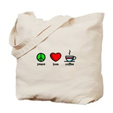 Peace, Love and Coffee - Tote Bag
