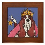 Royal Basset Hound Framed Tile