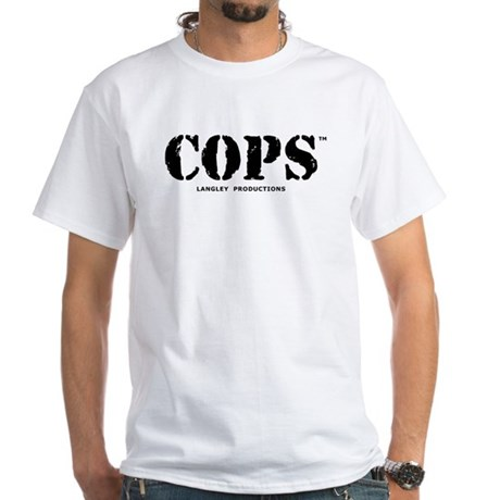 COPS White T-Shirt