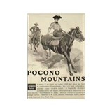 Pocono Mountains Travel Ad Rectangle Magnet
