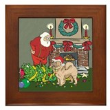 Santa's Helper Chow Chow Framed Tile