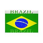 Brazil Brazilian Flag Rectangle Magnet