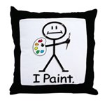 BusyBodies Artist (Painter) Throw Pillow