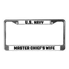 Cool Military wife License Plate Frame